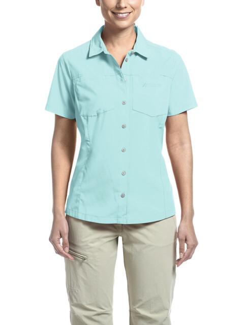 Maier Sports Peregrin S/S Shirt Women Blue Radiance